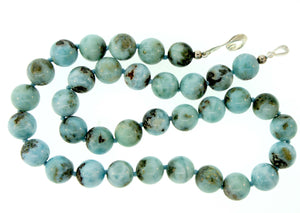 Natural Larimer Bead Necklace