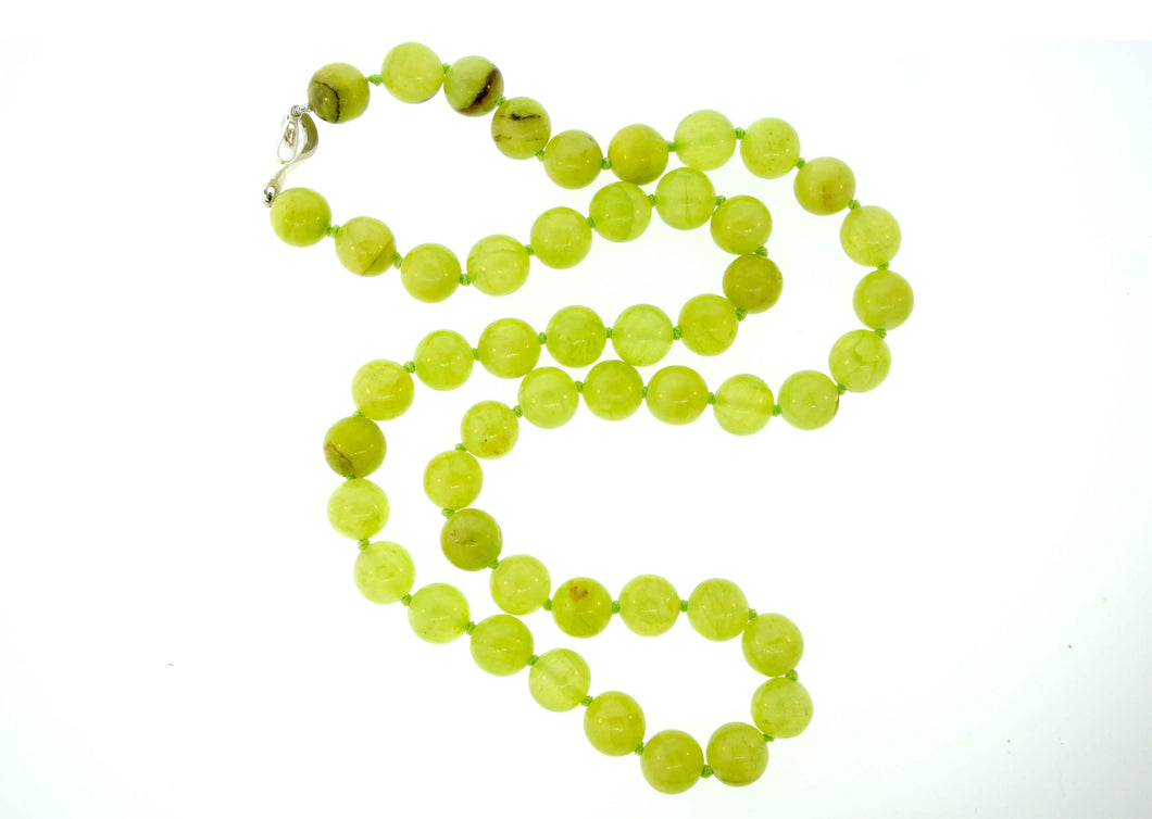 Natural Serpentine Bead Necklace