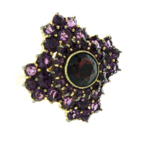 Victorian Amethyst and Garnet Ring