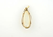 Solid White Opal Antique Gold Drop