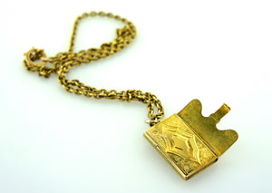 15ct Gold Edwardian RARE Envelope Locket