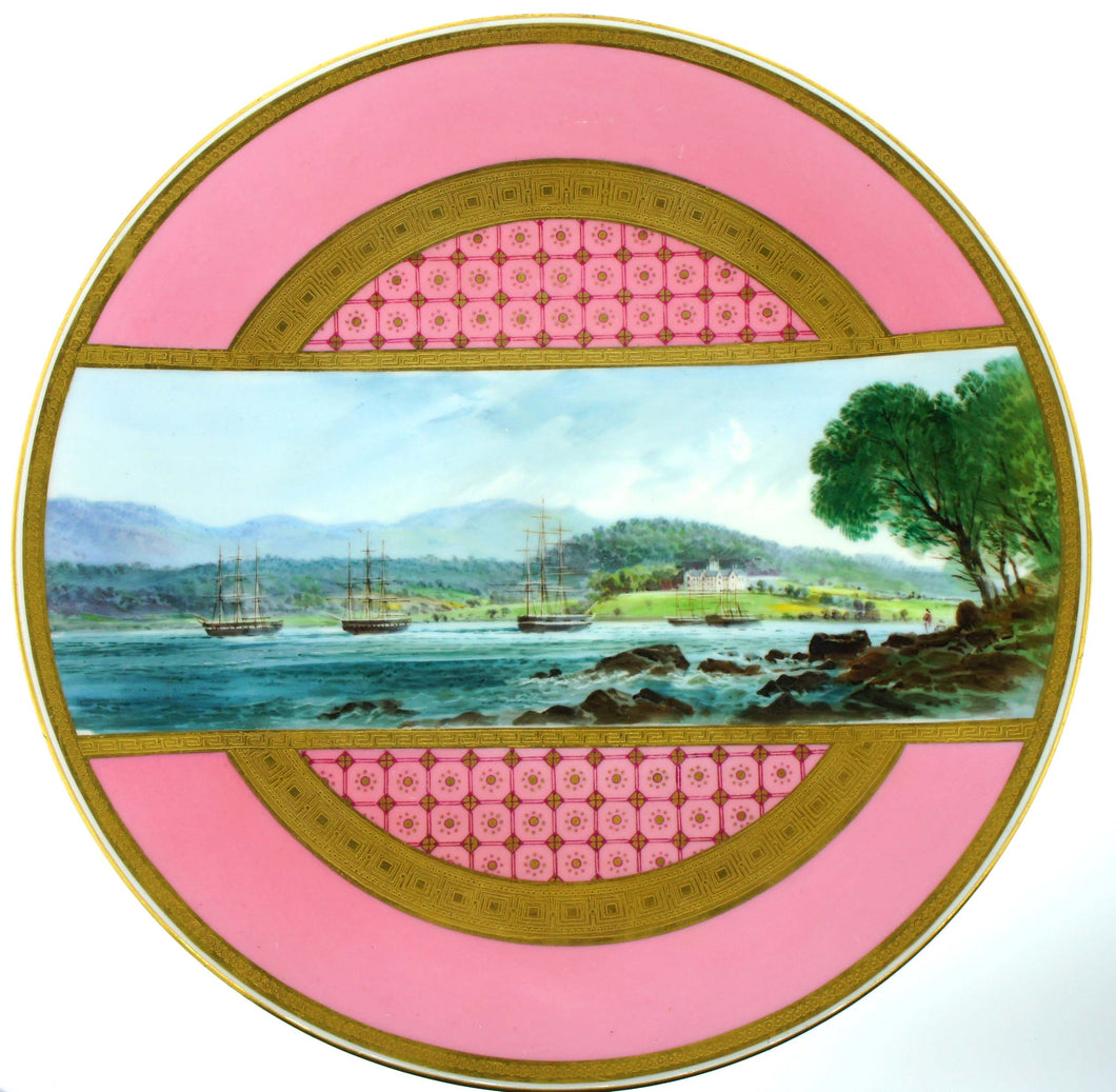 Early Minton Hand-painted Decorative Plate
