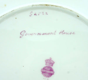 "Early Minton Hand-painted Decorative Plate ""Government House"""