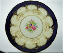 Royal Worcester England Decorative Wall Plate Blue Cream