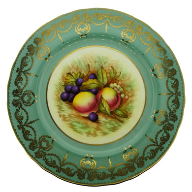 Aynsley Bone China Decorative Plate Signed D.Jones Fruit Design