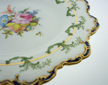 Royal Crown Derby England Porcelain Wall Plate Floral