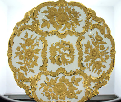 Meissen Germany Decorative Bowl Embossed Gold Design