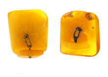 Large Square Chunky Amber Cufflinks