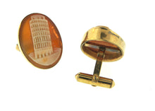 Destino Leaning Tower of Pisa Vintage Cameo Cufflinks