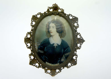Miniature Portrait of a Lady on Ivory, Signed N. Stioler
