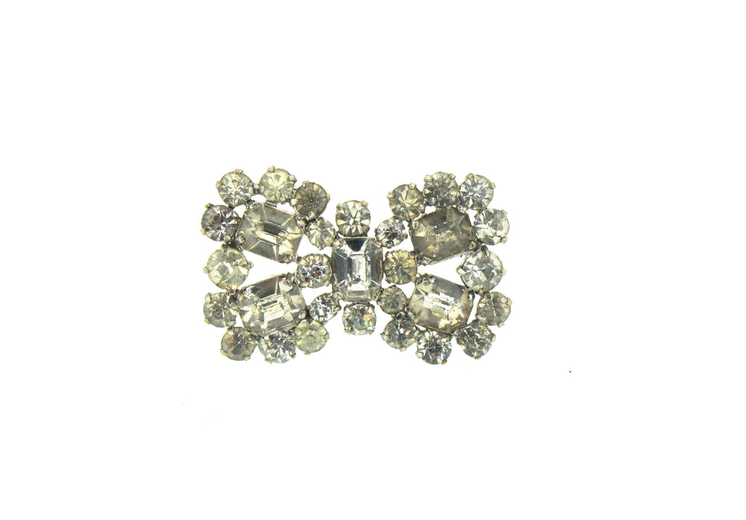 Petite Crystal Bow  Brooch