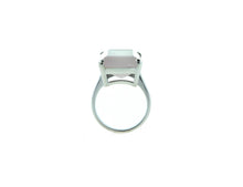 Smokey Rose Quartz Sterling Silver Rectangular Ring