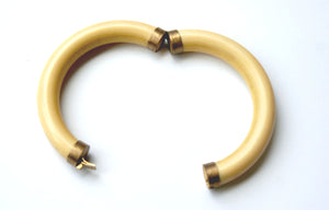 Vintage Ivory Bangle 9ct Gold