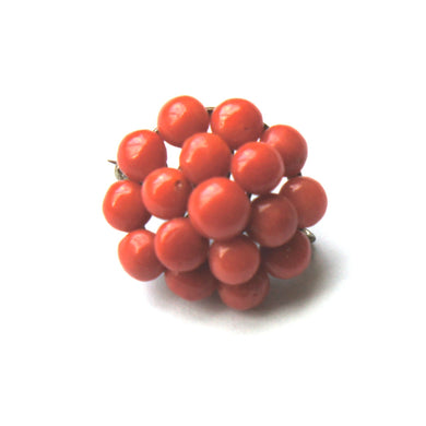 Antique Momo Coral Brooch