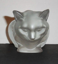 Crouching Lalique Cat