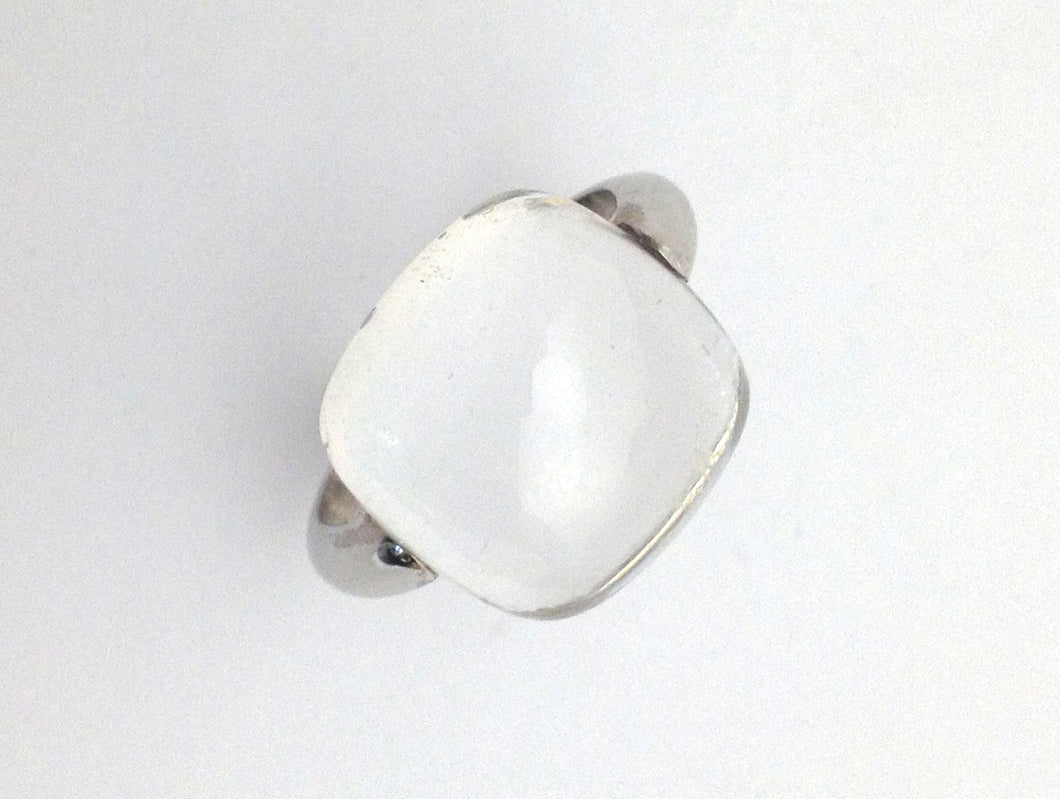 Sterling Silver Rock Crystal Ring