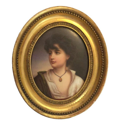 German Porcelain Miniature Of a Boy