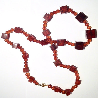 Antique Natural Baltic Amber Mixed Bead Opera Length Necklace