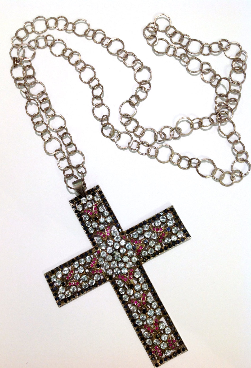 Antique Sterling Silver Crucifix