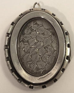 Antique Engraved Sterling Silver Locket