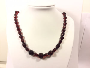 Princess Length Vintage Cherry Amber Necklace