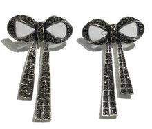 Sterling Silver Marcasite Bow Earrings