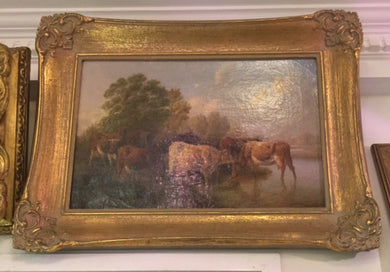 English Country Scene by the school of  T.S Cooper