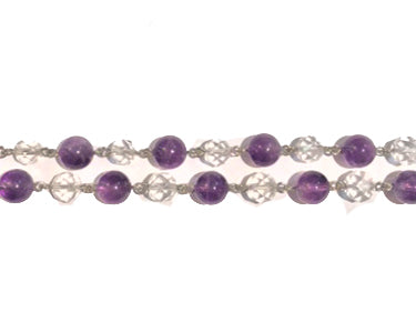 Lead Crystal Amethyst Necklace