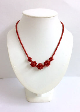 Natural Ox-Blood Red Mediterranean Coral Necklace