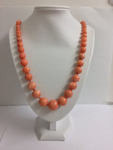 Large Natural Mediterranean Angel Skin Coral Necklace