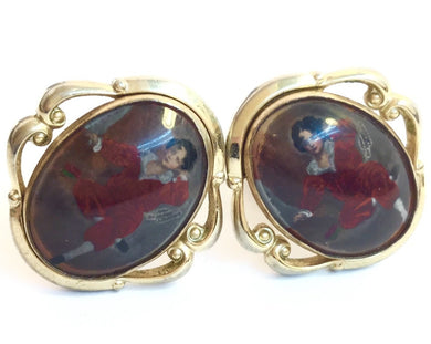 1930's Costume Cufflink 'Portrait of Goya'