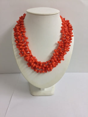Natural Salmon Coral Necklace