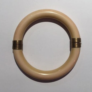 9ct Gold Hinged Ivory Bangle