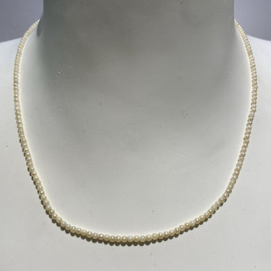 Vintage 9ct Yellow Gold Seed Pearl Necklace