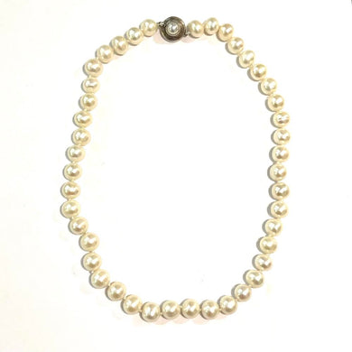 Sterling Silver Freshwater Pearl Beaded Necklace