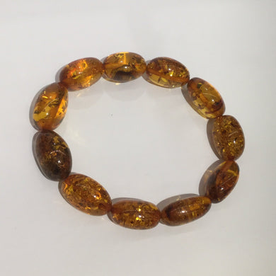 Natural Baltic Amber Beaded Bracelet
