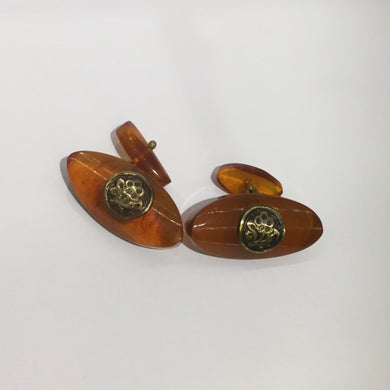 Vintage Natural Baltic Amber Cufflinks
