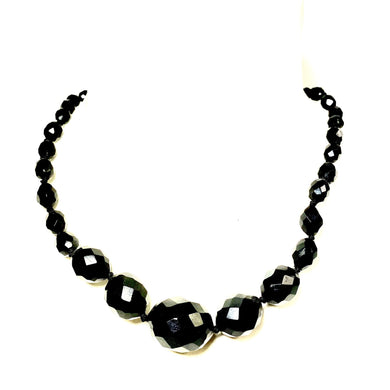 Antique Whitby Jet Graduated Beaded Necklace