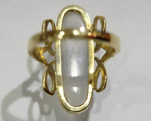 Delightful Natural Moonstone Ring set in 9ct Gold