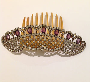 Art Deco Open Back Crystal Tiara
