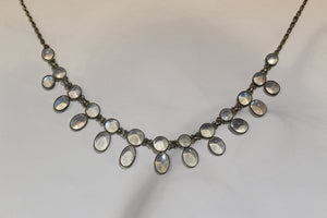 Sterling Silver Victorian Moonstone Necklace