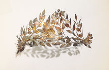 Tiara Head Piece C.1890s Silver Gold Foiled