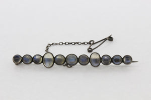 Sterling Silver Moonstone Brooch