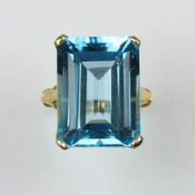 9ct Yellow Gold Swiss Blue Topaz Ring