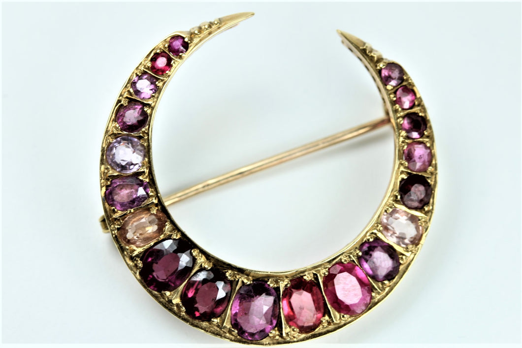 Ruby Cresent Brooch
