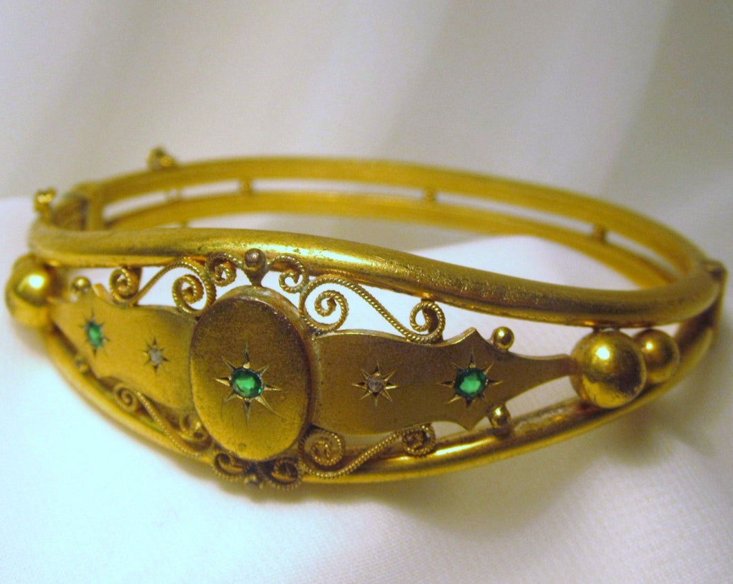 Antique Edwardian Emerald Bracelet