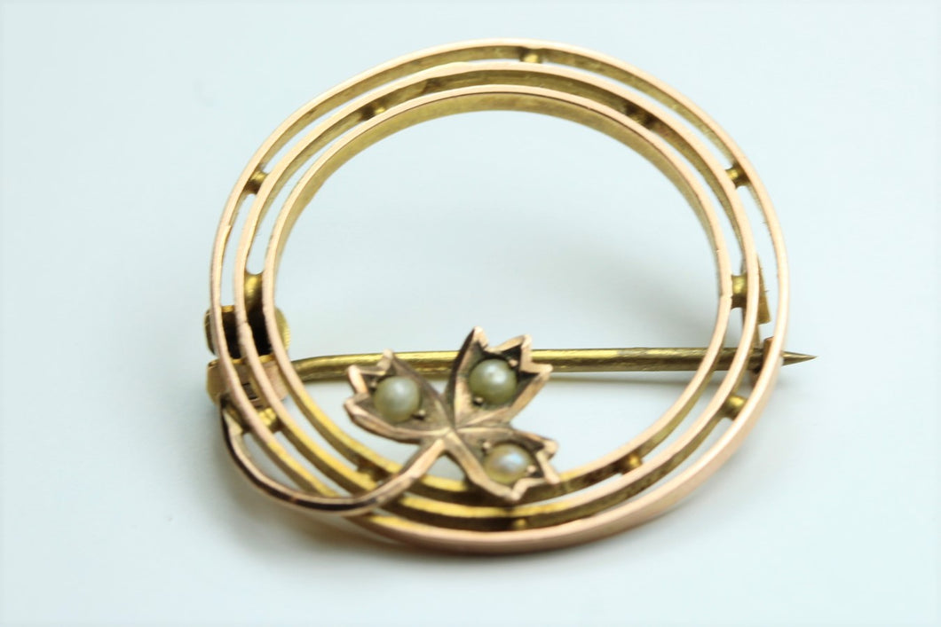 Georgian Seed Pearl Brooch
