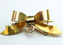 Vintage 9ct Yellow Gold Bow Brooch