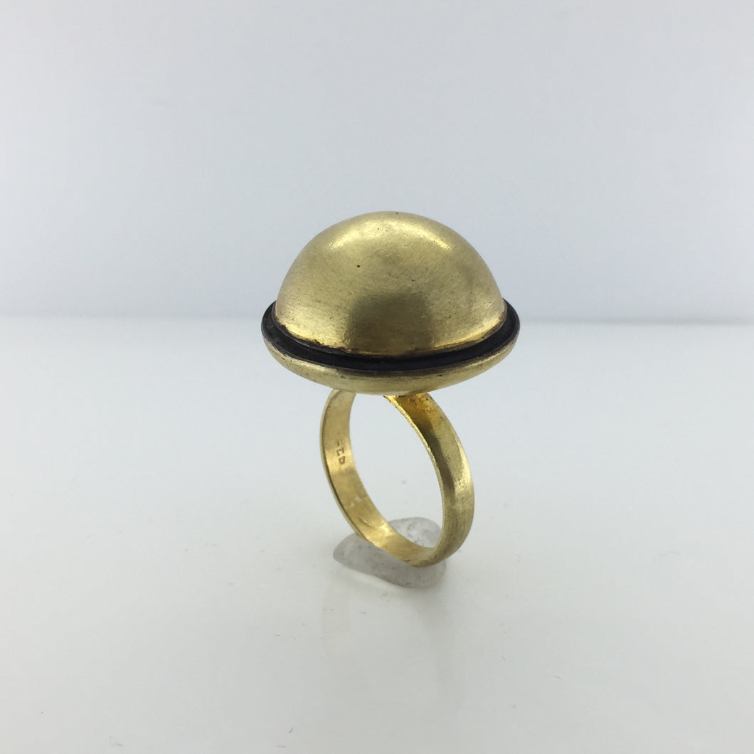 Gold Plated Sterling Silver Dome Topped Ring