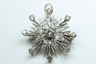 Diamond Starburst  Brooch